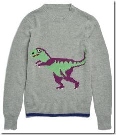 55013 T-Rex Intarsia Sweater - GRY