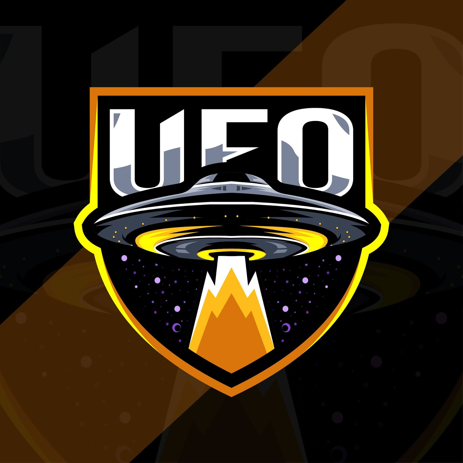 Ufo Mascot Logo Esport Template Design Free Download Vector CDR, AI, EPS and PNG Formats