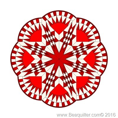 circle quilt red
