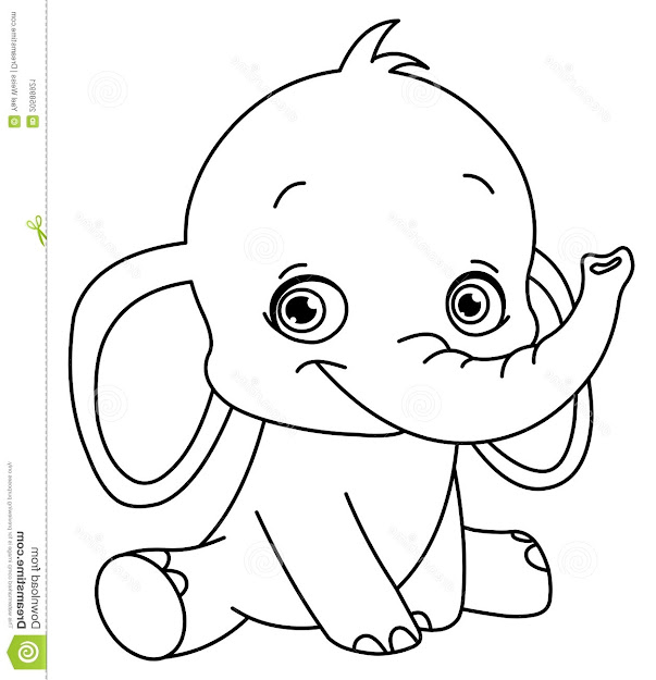 Baby Elephant Coloring Pages Print