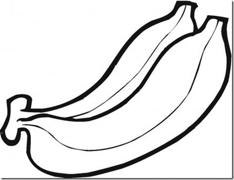 banana platanos colorear (6)