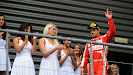 Fernando Alonso with grid grils