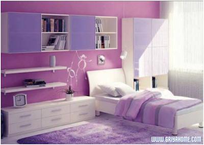 kamar anak warna ungu