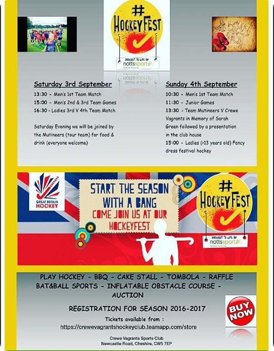 Hockey Fest fund-raising event – 3-4 Sept 2016