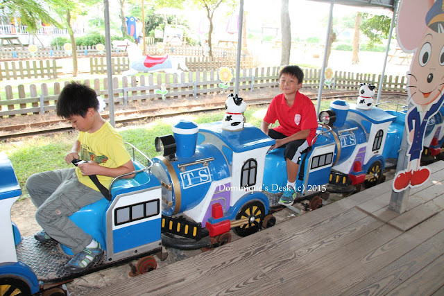 The boys belted up on their trains