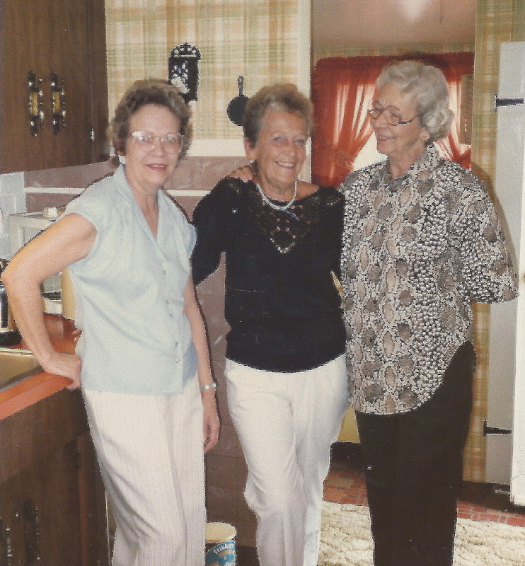 With sisters Betty and Ruth