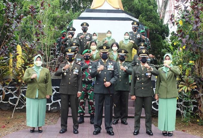 Dandim 0906/Kutai Kartanegara Pimpin Ziarah Nasional dalam rangka HUT ke- 76 TNI Di Wilayah Kabupaten Kukar