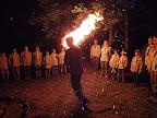 Štěpán zapaluje slavnostní oheň