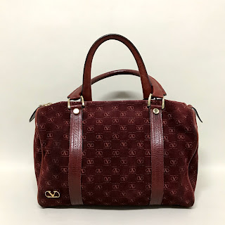 Valentino Suede Monogram Handbag