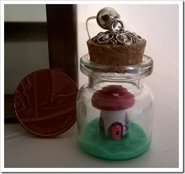 Tiny Fairy House In A Bottle (2)