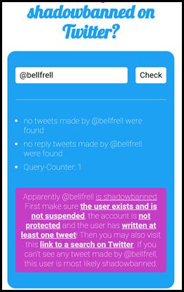Bellfrell shadowbanned