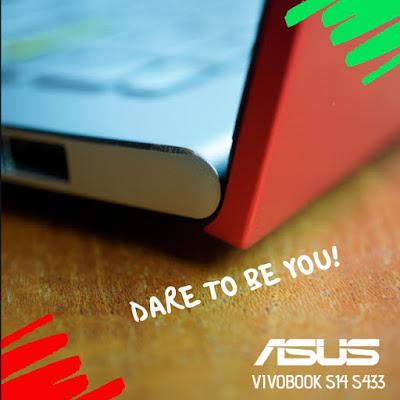 Asus vivobook S14 S433, ngeblog bareng asus
