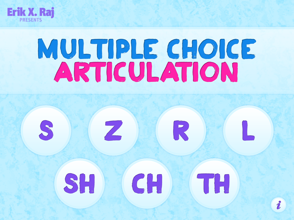 Multiple Choice Articulation Main Page