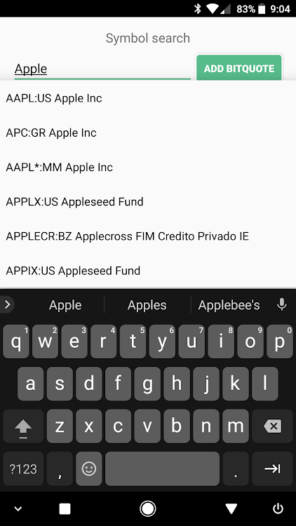 BitQuote Free - Stock Widget – (Android Apps) — AppAgg