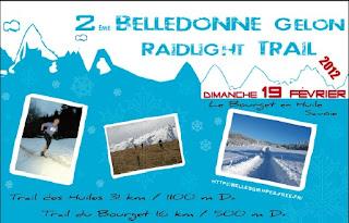 Affiche Belledonne Gelon Raidlight Trail