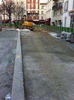 Travaux d'aménagement de la place Moro Giafferi