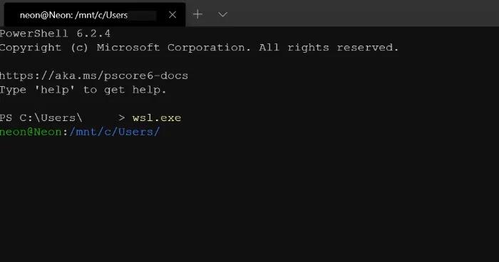 Wsl ابدأ تشغيل Microsoft Ubuntu Powershell Access