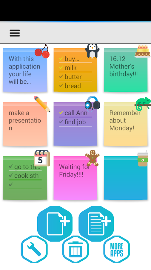 Screenshots of Notes (Notepad) for iPhone