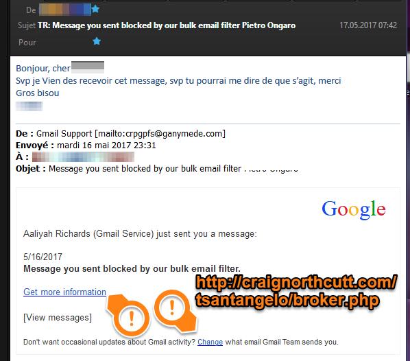 Souci Avec E Mail Possible Dêtre Frauduleux Ayuda De Gmail
