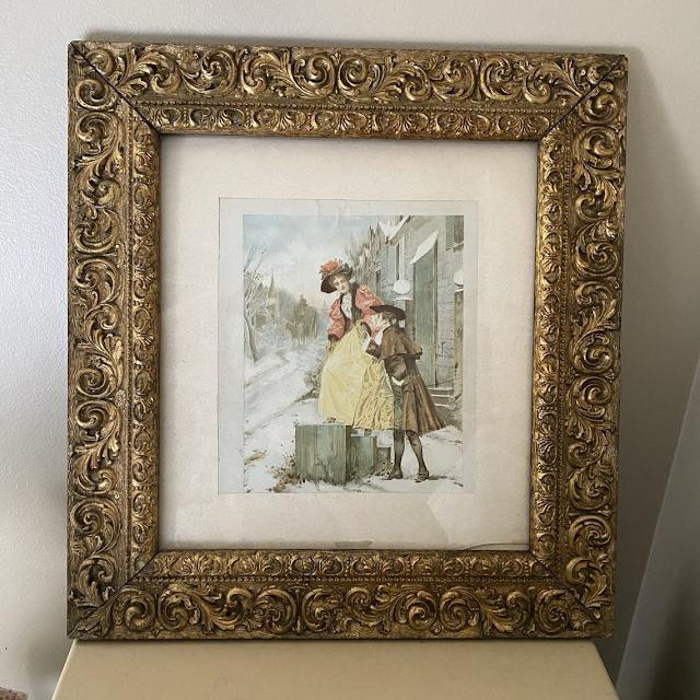 Gold gilt framed Victorian print