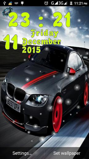 Cars Clock Live Wallpaper