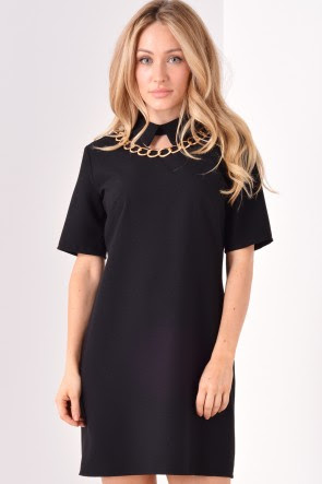 Kristina Collar Dress in Black, €38.00
