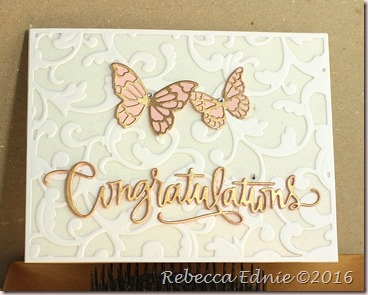 butterfly congrats wedding card