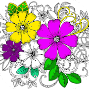 Flower Coloring Book with Relaxing Music ♪
