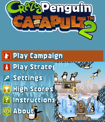 Game java crazy penguin catapult play
