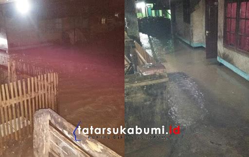 Kampung Ranca Desa Caringin kecamatan, Cisolok, Kabupaten Sukabumi terendam banjir / Foto : Rudi Imelda