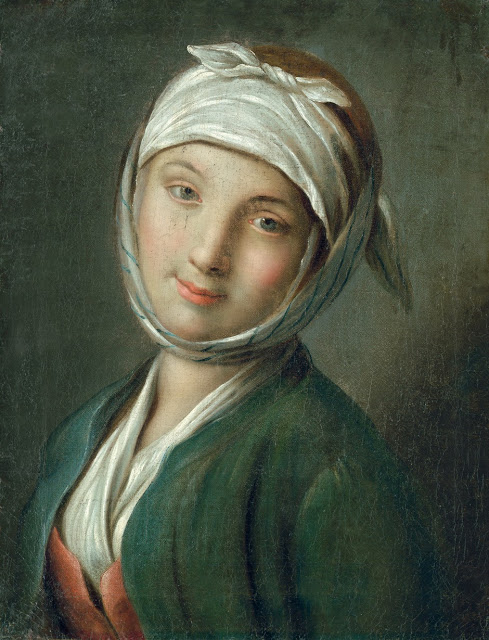Pietro Antonio Rotari - Bildnis einer jungen Frau mit weißem Kopftuch