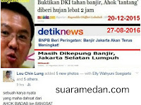 Jawaban Tuhan Atas Kepongahan Ahok Yang Pernah Menantatang Tuhan Bahwa Jakarta Tidak Akan Pernah Banjir