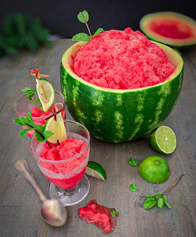 Watermelon Granita Recipe   Breakfast Care