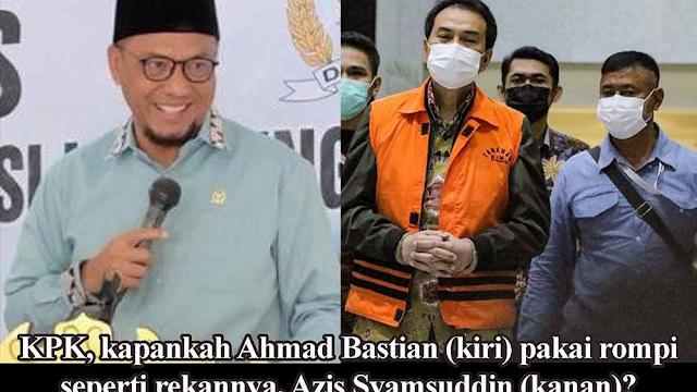 Azis Syamsuddin Ditahan KPK, Warga Lampung: Kapan Ahmad Bastian Ditangkap?