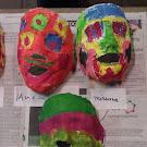 Gipsmaskers schilderen 27/10/12