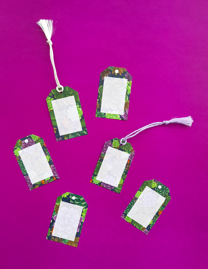 gift tags, food, picnic basket, garden tea party, favor, Summer, Spring, celebration, succulents, pattern, illustration