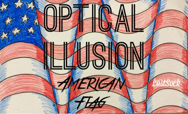 flag american illusion optical op sock lost flags