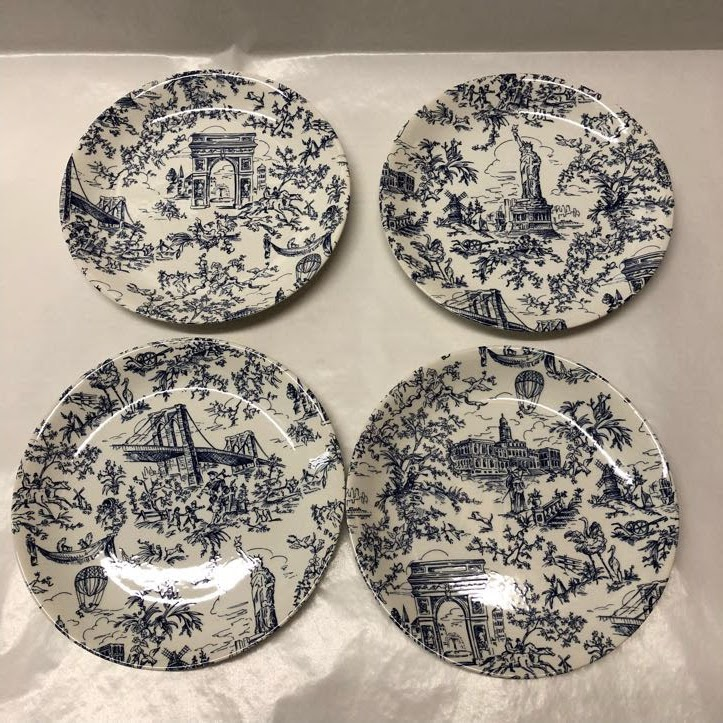 Tiffany Co New York Toile Plates Shophousingworks & Marvellous Black And White Toile Dinnerware Pictures - Best Image ...