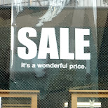 sale - its a wonderful price - I agree in Harajuku, Tokyo, Japan