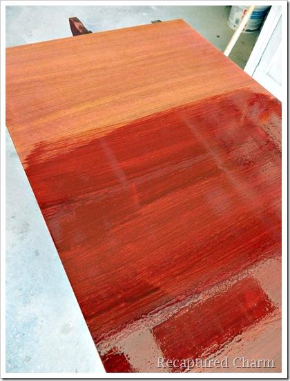 Duncan Phyfe staining 1