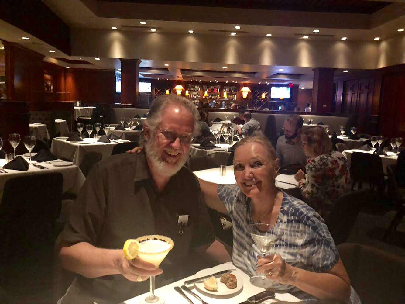 Resident Astronomers console their clouded out nights with martinis at Fleming's Steakhouse (Source: Palmia Observatory