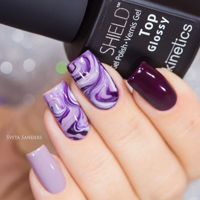 60 Trendy Ideas For Purple Nail Art Designs You Must Try - 60 Trendy Ideas For Purple Nail Art Designs You Must Try - Fashonails