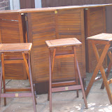 Garden furniture after staining using Sickens