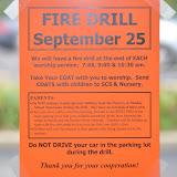 Fire Drill, Sept. 25, 2011