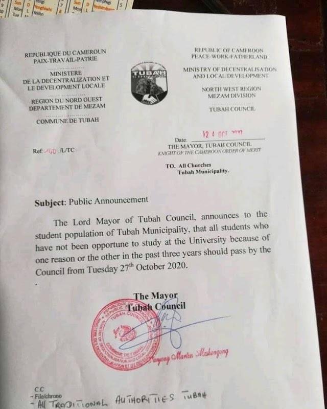 Tubah Mayor, Elite unite to help students access classroom