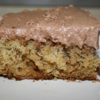 Icebox Banana Cake with Chocolate Cream