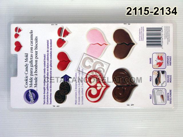 Cetakan Coklat Oreo 2115-2134 Double Heart