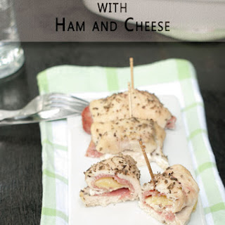 Chicken Roll ups with Ham and Cheese.