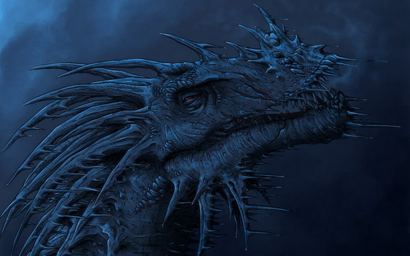 Great Blue Dragon, Dragons