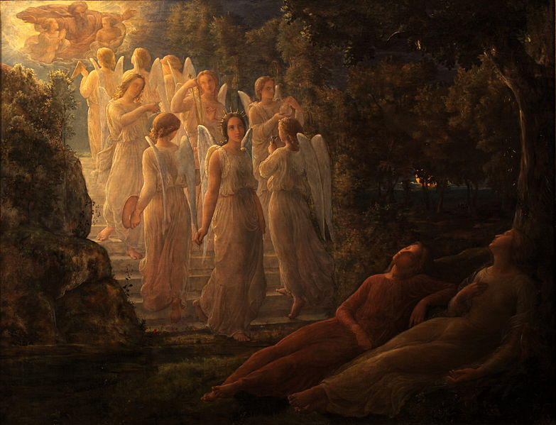 Louis Janmot - Poem of the Soul - The golden stairs